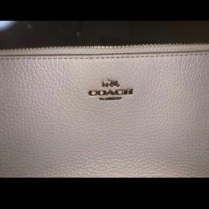 Coach Creme Leather Clutch